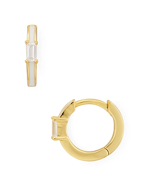 Argento Vivo Huggie Hoop Earrings in 18K Gold-Plated Sterling Silver