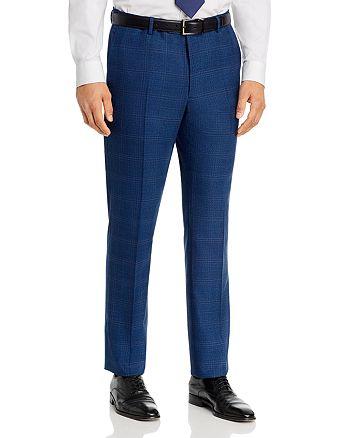 John Varvatos Star USA - Bleecker Street Tonal Plaid Slim Fit Suit Pants