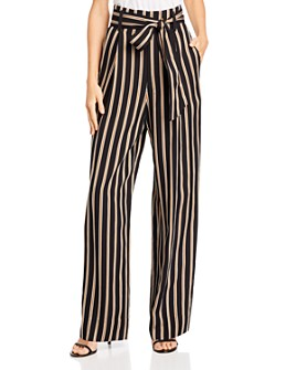 7 For All Mankind - Striped Wide-Leg Pants