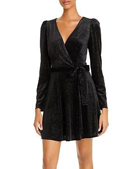 AQUA - Glitter-Dot Velvet Dress - 100% Exclusive