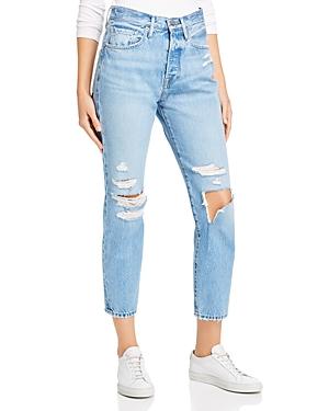 Frame Le Original Mix Pocket Straight-Leg Jeans in Zuma Bay-Women