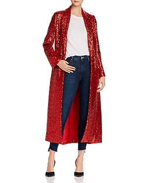 Kristian Loren Executive Sequin Long Coat