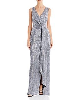 Aidan Mattox - Sequin Twist-Front Gown