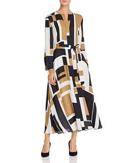 Lafayette 148 New York - Emberly Geo-Print Maxi Shirt Dress