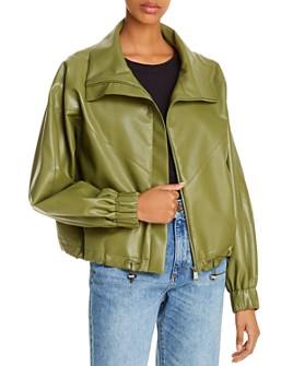 ÁERON - Portia Faux Leather Bomber Jacket