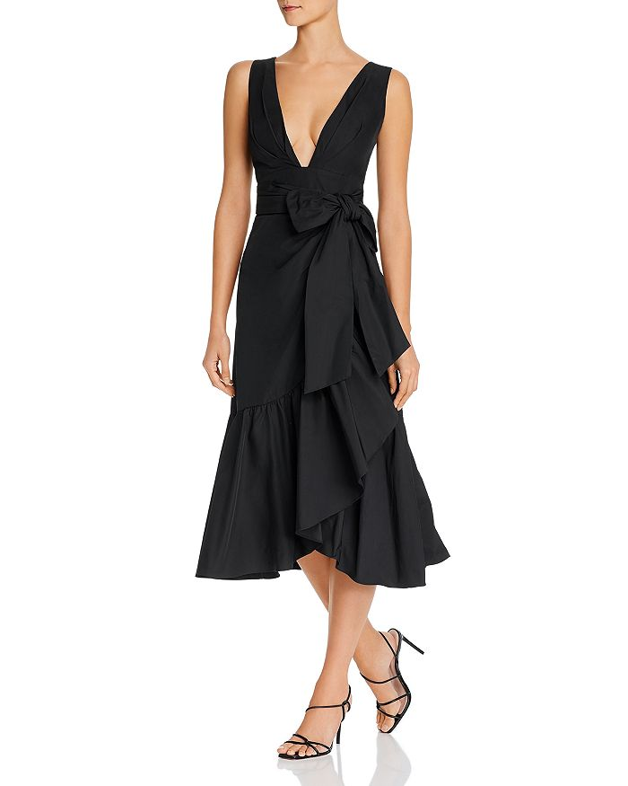 Rebecca Taylor - Plunging Taffeta Dress