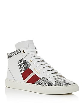 Bally - Men's Hedern Snake-Embossed Leather High-Top Sneakers