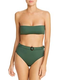 AQUA - Bandeau Bikini Top & Belted High-Waist Bikini Bottom - 100% Exclusive