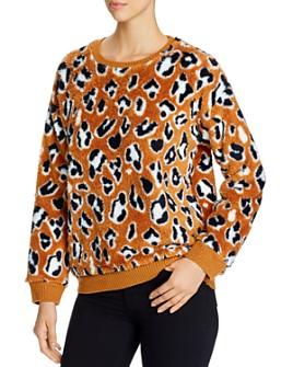 Alison Andrews - Leopard Print Sherpa Sweatshirt