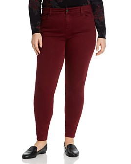 Liverpool Los Angeles Plus - Abby Skinny Jeans in Oxblood