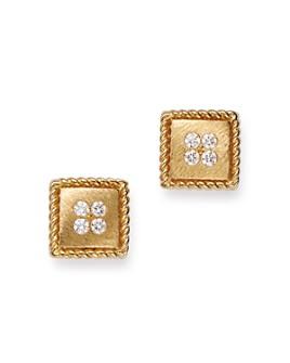 Roberto Coin - 18K Yellow Gold Diamond Stud Earrings
