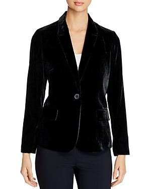 Daniel Rainn Single-Button Velvet Blazer