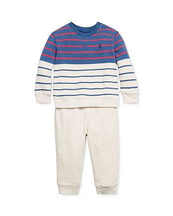 Ralph Lauren - Boys' Striped Terry Sweatshirt & Pants Set - Baby