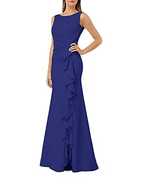 Carmen Marc Valvo Infusion - Cascading Ruffle Gown