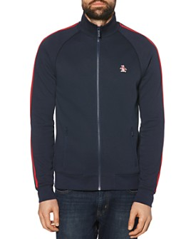 Original Penguin - Logo-Embroidered Stripe-Trimmed Track Jacket