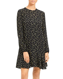 Theory - Star-Print Silk-Blend Dress