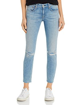 rag & bone - Dre Distressed Slim Boyfriend Jeans in Alyssa