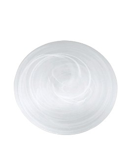 Mariposa - White Alabaster Charger Plate