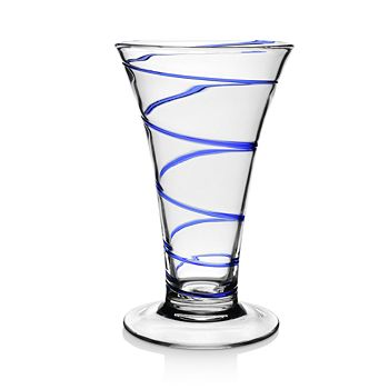 "William Yeoward Crystal - Bella Blue Vase, 11"""