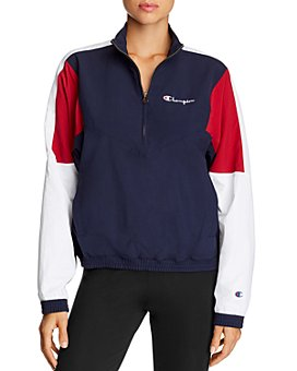 Champion - Color-Block Half-Zip Jacket
