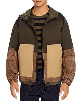 Barena - Brusca Color-Block Mixed-Media Regular Fit Coat