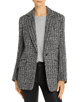 rag & bone - Ames Linton Metallic-Detail Tweed Blazer