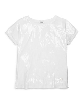 bebe - Girls' Sequin-Front Top - Big Kid