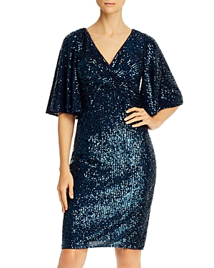 70s Dresses – Disco Dress, Hippie Dress, Wrap Dress Adrianna Papell Sequined Cocktail Dress AUD 330.73 AT vintagedancer.com