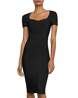 BCBGMAXAZRIA - Scalloped Body-Con Dress