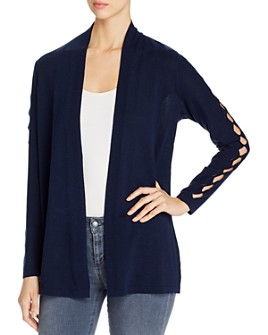 VINCE CAMUTO - Open-Front Cardigan with Cutout Details - 100% Exclusive