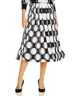 BOSS - Geo Print Pleated Midi Skirt