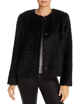 Eileen Fisher - Cropped Faux-Fur Jacket - 100% Exclusive