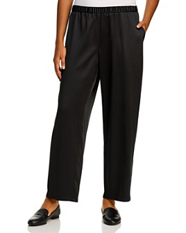 Eileen Fisher Plus - Satin Straight-Leg Pants