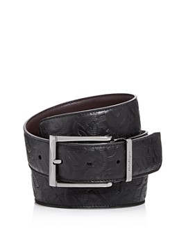 Salvatore Ferragamo - Men's Gancini Embossed Reversible Leather Belt