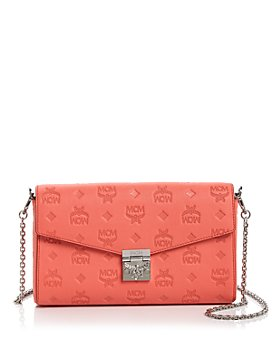 MCM - Millie Logo-Embossed Leather Medium Crossbody