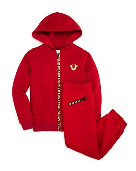 True Religion - Boys' Logo-Detail Zip Hoodie & Sweatpants - Little Kid, Big Kid