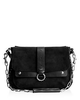 Zadig & Voltaire - Kate Large Suede & Leather Shoulder Bag