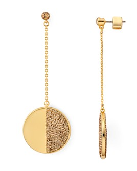kate spade new york - Mod Scallop Pavé Linear Earrings