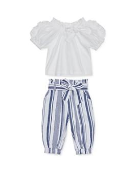 Habitual Kids - Girls' Ruffled Top & Striped Pants Set - Baby