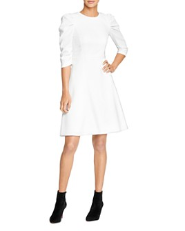 HALSTON - Draped-Sleeve Dress