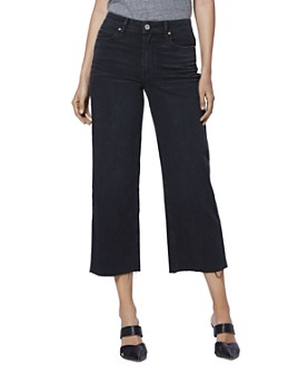 PAIGE - Nellie Culotte Jeans in Black Sand