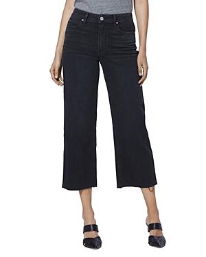 Paige Nellie Culotte Jeans in Black Sand-Women