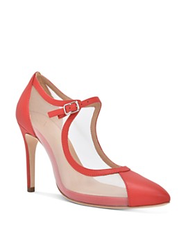 Joan Oloff - Women's Rebecca Mesh Mary Jane Pumps