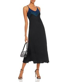 AQUA - Metallic Rib-Knit Midi Dress - 100% Exclusive