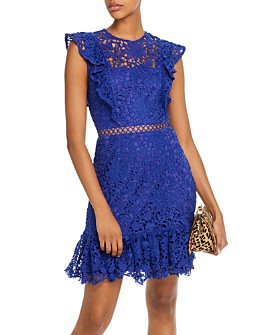 AQUA - Ruffled Lace Dress - 100% Exclusive