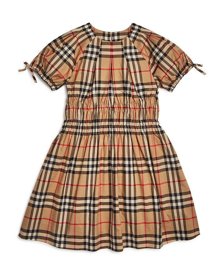 Burberry - Girls' Joyce Smocked Vintage Check Dress - Little Kid, Big Kid
