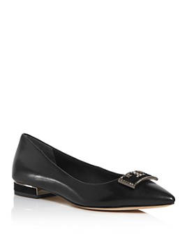Tory Burch - Women's Gigi Embellished Pointed-Toe Flats