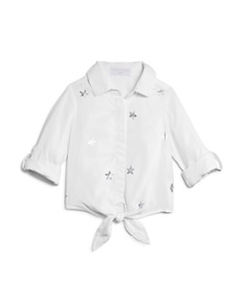 Bella Dahl - Girls' Star Print Tie-Front Shirt - Little Kid, Big Kid