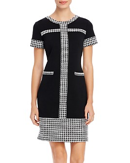 KARL LAGERFELD PARIS - Houndstooth-Trim Dress