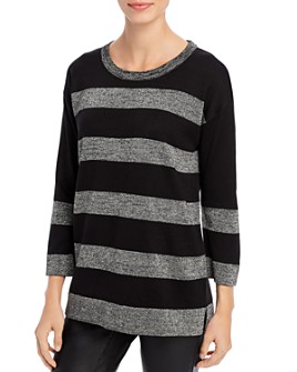 KARL LAGERFELD PARIS - Striped Tunic Sweater